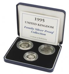 1995 3 x Coin Silver Proof Family Collection for sale